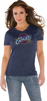 Touch by Alyssa Milano Cleveland Cavaliers Primary Logo Tri Blend V Neck T-Shirt