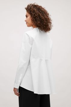 COS image 3 of Shirt with voluminous back in White