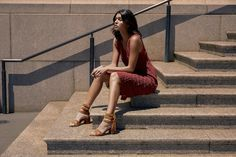 The Ran heeled sandal is designed with sleek straps and bold fringe along the back to give your look some extra flair. Fringe Sandals, Sigerson Morrison, You Look, Fall Winter, Cold Shoulder Dress, Running, Dresses, Design, Fashion