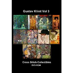 Gustav Klimt Vol 3 DVD Collection - Cross Stitch Pattern by Cross Stitch Collectibles