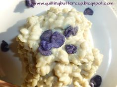 Quilting Buttercup: Violet flavored rice pudding