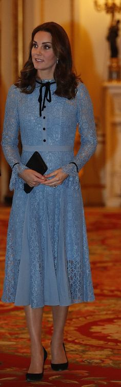 Kate Middleton in Temperley London https://whatkatewore.com/2017/10/10/kate-temperley-lace-mental-health-day-book-giveaway/