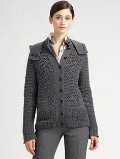 Crochetemoda: Casaco Cinza de Crochet