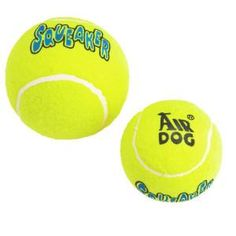 I'm learning all about KONG AirDog Squeaker Tennis Ball at @Influenster!