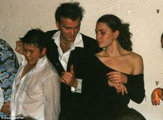 2002: Pictured at a St Andrews house party at 20 wearing a daring off-the-shoulder black dress