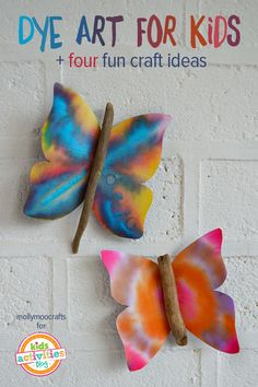 Kids Craft Ideas | Summer Craft Projects for Kids | Dye Art for Kids from @Holly Homer