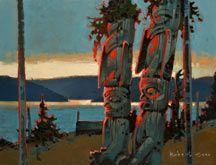 Robert Genn, artist, original landscape paintings at White Rock Gallery Twilight of the Gods II