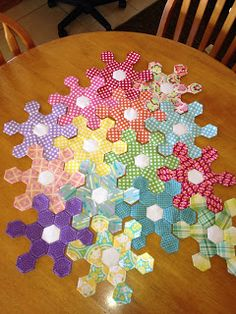 Snowflake hexies - Knotted-Thread: February 2013