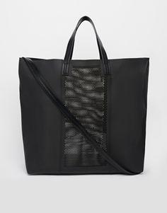 ASOS Perforated Shopper Bag - Black