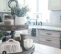 Love the 3 tier farmhouse stand