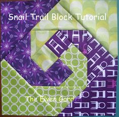 Snail's trail Tutorial : 2x2 four patch, then square in a square / economy blocks in increasing sizes