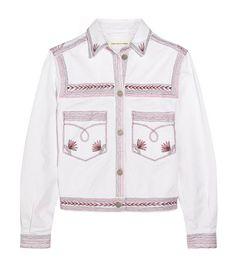 Spring! Étoile Isabel Marant Abril embroidered stretch-denim jacket