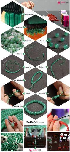 Bileklik Yapımı Crochet Necklace, Jewelry, Jewlery, Crochet Collar, Bijoux, Schmuck, Jewerly, Jewels, Jewelery