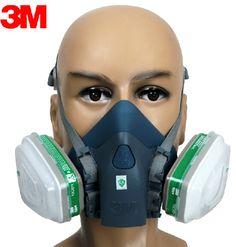 3M 7501+6004 Respirator Half Facepiece Reusable Respirator Mask Ammonia Methylamine Organic Vapor Cartridges Filters XK0099 #Affiliate