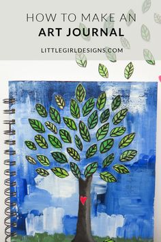 How to Make an Art Journal: Learn how to make your own art journal (or regular journal) using simple supplies (that you might just have already!) @ littlegirldesigns.com