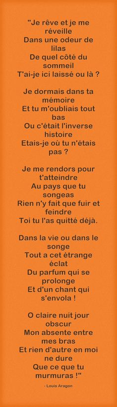 Louis Aragon Bien Dit, Aragon, Cool Words, Texts, Love Quotes, Literature, Calligrammes, Messages, Reading