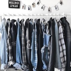 my closet is 40% denim jackets and 40% flannels 🌚