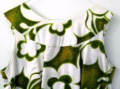 Vtg Pali Casuals 2 Pc.Hawaiian Sleeveless Dress Matching Jacket Green White #PaliCasuals #Hawaiian #Casual