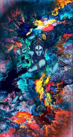 Lord Shiva as Nataraj in creative art painting Arte Shiva, Shiva Tandav, Rudra Shiva, Shiva Linga, Krishna, Angry Lord Shiva, Lord Shiva Pics, Lord Shiva Hd Images, Lord Shiva Family