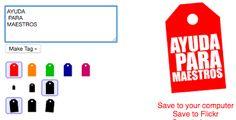 AYUDA PARA MAESTROS: Tinytags - Herramienta para crear etiquetas person...
