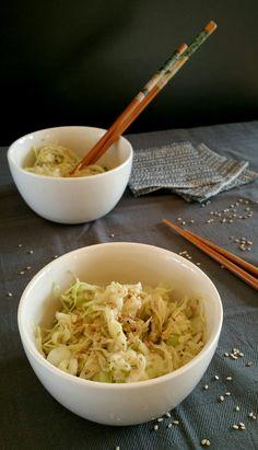 Salade japonaise chou sésame