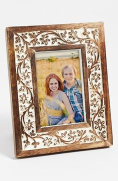 Carved Wood Picture Frame (4x6)