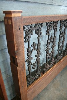 This guy makes wood and wrought iron beds made from reclaimed pieces from the French Quarter in NOLA. I LOVE THEM. They are all unique and beautiful. Seriously love them.