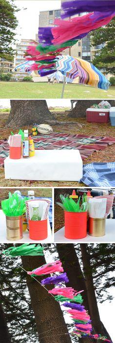 Quick, affordable DIY picnic decorations