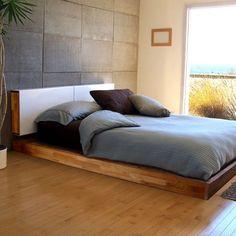 Headboard/ Cabinet MASHstudios LAXseries Platform Bed   Pure Home