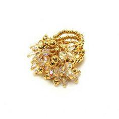 Montar looks é uma arte, e o brilho faz parte! 💎🌞😍❤ #anel #dourado #cristal #moda #brilho #maxi #tendencia #chique #golden #ring #fashion #trend #sparkle #instalook #instagood #instalike #instamood