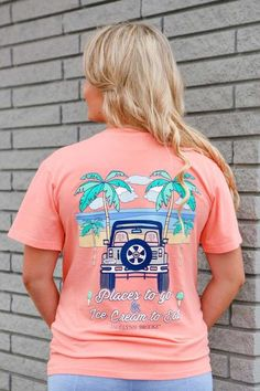 12f1b53d44b Jadelynn Brooke Places to Go Tee in Coral Coral Shorts