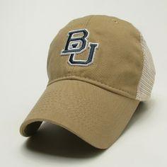 926cb7fb5f7 The Baylor Gold Interlocking BU Trucker Hat