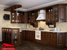 Kitchen wall colors with dark oak cabinets kitchen colors with dark wood cabinets kitchen cabinet wood . kitchen wall colors with dark oak cabinets Dark Oak Cabinets, Dark Wood Kitchen Cabinets, Dark Wood Kitchens, Kitchen Cabinet Design, Modern Kitchen Design, Glass Cabinets, Walnut Cabinets, Farmhouse Kitchens, Kitchen Wood