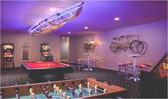12 Distinct Bonus Area Ideas for Your Home – Game Room İdeas 2020 Teen Game Rooms, Video Game Rooms, Teen Hangout, Hangout Room, Galveston Apartments, Garage Game Rooms, Arcade Room, Teen Lounge, At Home Movie Theater