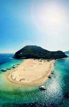 Marathonisi beach/Island at Laganas Gulf, Zakynthos Island, Greece