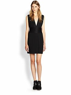 Marc by Marc Jacobs Anya Crepe Surplice Dress