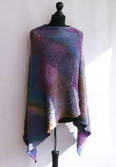 Cascade Poncho 3 Knitting pattern by Brian Smith Designs Knitted Poncho, Knitted Shawls, Poncho Design, Mitered Square, I Cord, Plymouth Yarn, Dress Gloves, Paintbox Yarn, Yarn Shop