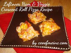 Leftover Ham & Veggie Crescent Roll Pizza and Ham & Potato Hash Recipes with Castle Wood Ham #MealsTogether #cbias