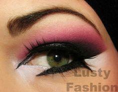 Make up - dont like the eyeliner, but love think pink and purple Purple Makeup, Makeup For Green Eyes, Colorful Makeup, Makeup Trends, Makeup Tips, Makeup Ideas, Makeup Primer, Makeup Tutorials, Black Makeup Styles
