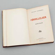 Förvillelser (Smarrimenti) di Hjalmar Söderberg, 1895. Un'edizione Albert Bonniers Förlag.
