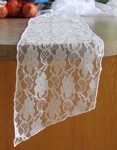 Lace Chair Sashes White Vintage Lace by BurlapAndSilkCompany
