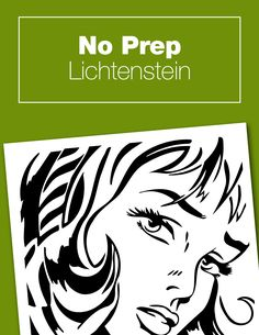 This no-prep Lichtenstein project is perfect to go along with your pop art unit study or Roy Lichtenstein art history lesson plans. Free printable activity that is quick and easy no-mess and no-prep, but super fun. Art History Lessons, History For Kids, Art Lessons, Art Sub Plans, Art Lesson Plans, Middle School Art, Art School, High School, Roy Lichtenstein Art