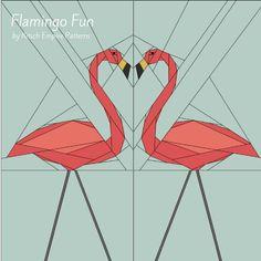 Flamingo Fun! - Paper Pieced Lawn Flamingo | Craftsy