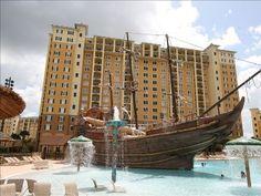 Full service luxury resort--notice top 2 floors with wide balconies--your unit!