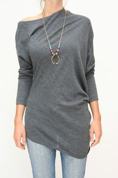 Nice weekend comfy sweater... easy to wear but you will look so pulled together.