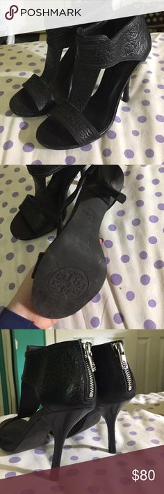 Tory burch strappy stiletto heels 7.5 In great condition only worn around my house Tory Burch Shoes Heels