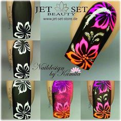 55 scary halloween nail art design ideas for the coming halloween – page 21 of 55 67 Cute Nail Designs, Acrylic Nail Designs, Acrylic Nails, Nail Art Fleur, Sugar Nails, Flower Nail Art, Neon Nails, Halloween Nail Art, Nail Decorations