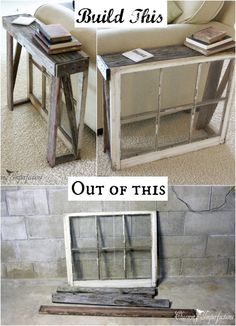 Antique Window Side Table:I am going to show you 30 creative ways to repurpose old windows for your home.you will learn how you can bring in use old windows.
