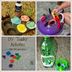 DIY easy at home toddler activities