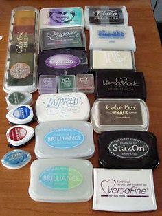 Espíritu de la Creatividad y Tutorial Blog Tips: Tutorial Rubber Stamping # 1 - Almohadillas de tinta y tintas